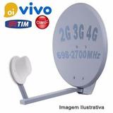 Antena Celular Ou Repetidor Rural 40dbi Voz E Internet 3g/4g
