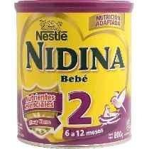 Leche Nidina Numero 2 En Polvo X 800 Grs Por Bulto