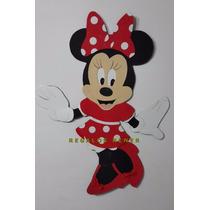 Figura Minnie Roja En Goma Eva. 80 Cm. Entrega Inmediata