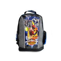 Morral Niño Power Ranger Original Rocka Gris Con Azul
