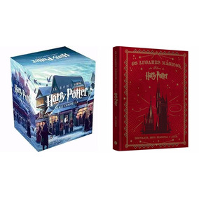 Box Harry Potter 7 Livros + Livro Dos Lugares Dos Filmes