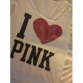Remera Victoria Secret Lentejuelas Pink Muy Ginebra Zara