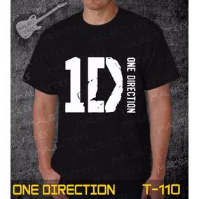 Camisetas One Direction Rock Roll Bandas Preta Iron Maiden