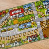 Alfombra Pista Calles Autos Ciudad Mod3 1x1,40 Mt