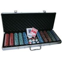 Maleta De Poker 500 Fichas Numeradas Holográficas 14g