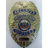 Placa De Oficial De Seguridad U.s.a / Efectivo O Trueque