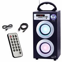 Caixa De Som Portatil Torre 140w Bluetooth Usb Sp106 Newlink