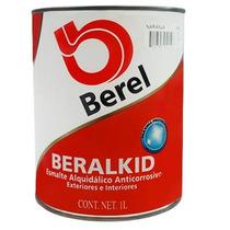 Pintura Esmalte Beralkid Naranja (1 Litro) Berel.