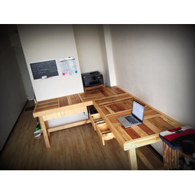 mesa trabajo o comedor cms ancho de madera reciclada