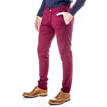 Pantalón Chino Chupin Semi Elastizado - Bordó - El Capo