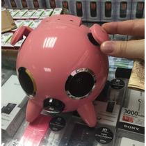 Caixa Som Rosa Speaker Ipig Pc Xbox Psp Mp3 Mp4 Nd