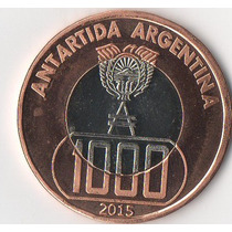 Antartida Argentina- Serie 4 Monedas -prueba-sin Circular