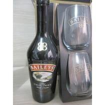 Kit Licor Baileys 750ml Com 2 Copos Originais
