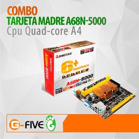 Tarjeta Madre Biostar A68n-5000 Con Cpu Quad-core A4