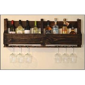 Adega Madeira Bar Bebidas Whisky Vinho Prateleira