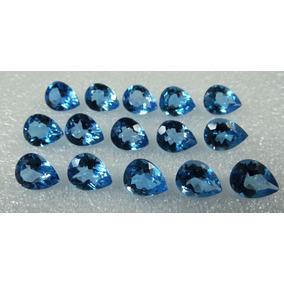 10 Pedras Topázio Azul Swiss Blue Gota 9x6 Mm Extra