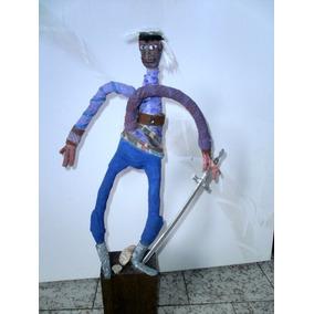 Arte Moderno Estatua Neorrealista -técnica Mixta.altura 050