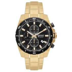Relógio Orient Mgssc010 Dourado Masculino Cronógrafo Lindo