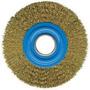Escova Circular 6pol De Aco Carbono Latonado Fios Ondulados