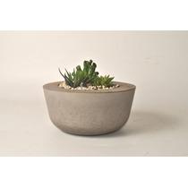 Vaso De Cimento / Concreto - Suculentas/plantas - 20x10cm