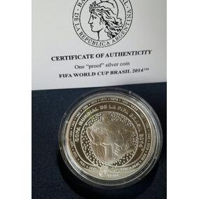 Argentina Moneda De Plata Del Mundial De Brasil 2014