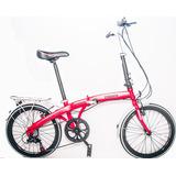 Bicicleta Dobrável Trinx Aro 20 Shimano 7 Velocidades Linda