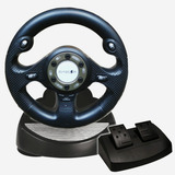 Volante Con Pedales Para Sony Ps2 Ps3 Pc - Dynacom