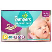 120 Pañales Pampers Premium Care Talle P