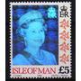 1 Estampillas De Isla De Man Reina Isabel Con Holograma 1994
