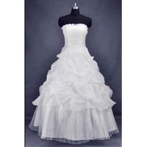 Vestido De Noiva Ou Debutante/novo E Barato C/ Anágua Saiote