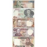 Colección 5 Billetes Colombianos 10.000,5000,2000, 1000,500