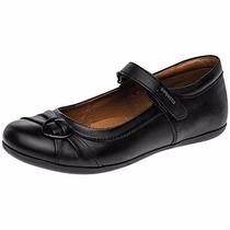 Zapatos Coqueta Piel 55900 Negro Niña Pv