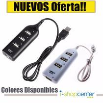 Conector Multiplicador Hub 4 Purtos Usb Pc Laptop Oferta!!!!