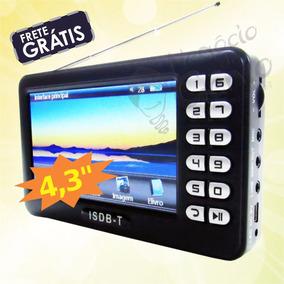 Tv Digital C/ Bateria Interna Usb E Sd Rádio Fm Frete Grátis