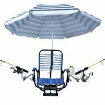 Cadeira Barco Confort C/ Braço/suporte Guarda Sol/2 Sup Vara