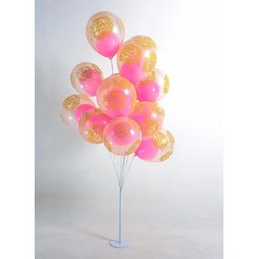 Suporte Bexiga Imita Gás Helio 2pç 15 Balão + 2pç 8 Balão