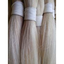 Cabelo Humano Natural Loiro Liso - Mega Hair - 100g 60cm