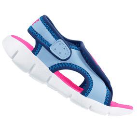 Sandália Papete Nike Feminina Infantil Sunray Menina Azul