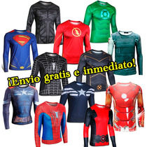 Civil War Capitan Iron Man Deadpool Batman Superman Playeras