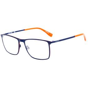 Lacoste L 2223 - Óculos De Grau 424 Azul Fosco E Laranja