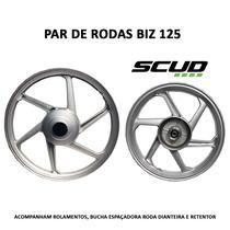 Jogo De Rodas Liga Leve Honda Biz 125 Scud Alumínio 6 Palito