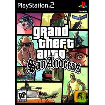 Jogo Mídia Física Grand Theft Auto Gta San Andreas Ps2