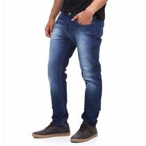 Calça Jeans Sarja Masculina Slim Skinny Com Lycra - Colorida