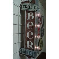 Anuncio Luminoso Tipo Antiguo Bar Cerveza Artesanal Retro La