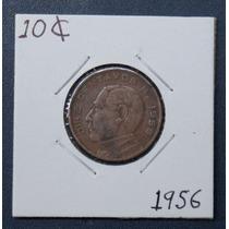 Ganga Moneda De 10 Centavos Juarez 1956 Fecha Escaza