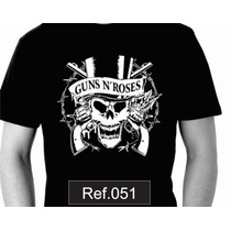 Camiseta Guns And Roses Slash Axel Camisas De Bandas Rock