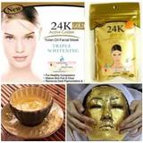 Mascarilla Facial Con Polvo De Oro 24k