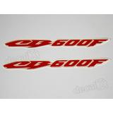 Emblema Adesivo Resinado Honda Cb600f Hornet 2008 Vermelho