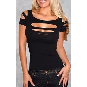 2c0bc8211e Blusa Com Decote Gota Nos Seios - Blusas para Feminino no Mercado ...