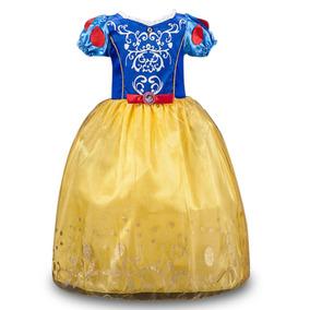 Fantasia Infantil Luxo Branca De Neve,lindo Vestido Princesa